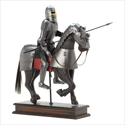 Medieval Knight On Horse Noble medieval knight statue