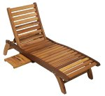 American Woods Windsor Chaise Longue with Sidetable